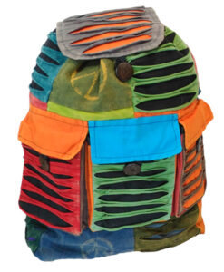Hippy Backpack Ripped Effect with 3 Pockets