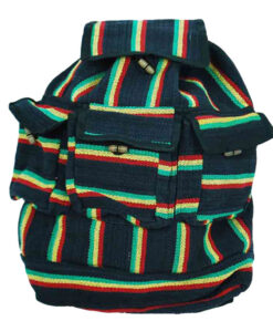 Black Rasta Hippy Backpack