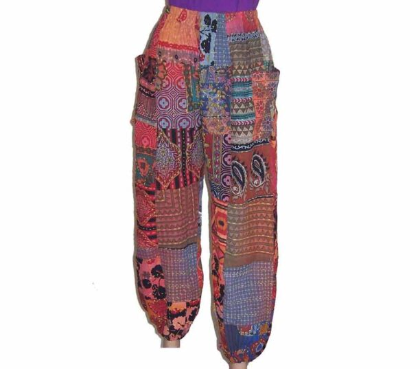 Cotton Patchwork Hippy Trousers 1