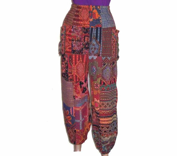 Cotton Patchwork Hippy Trousers 2
