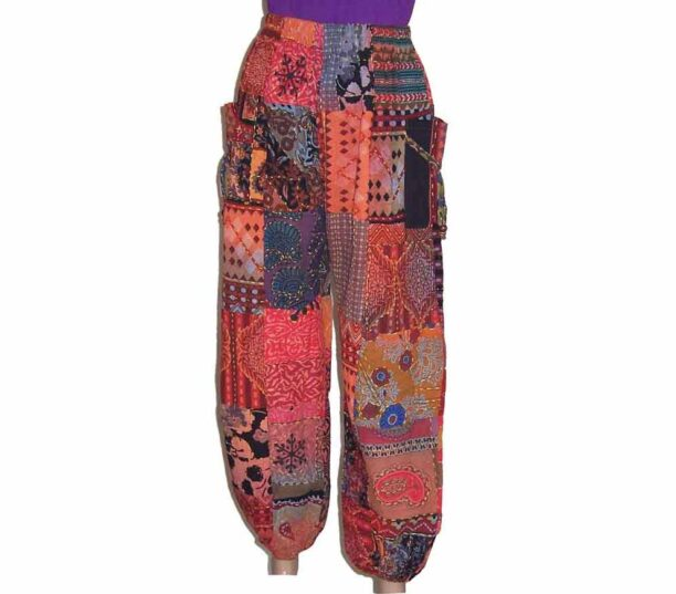 Cotton Patchwork Hippy Trousers 3