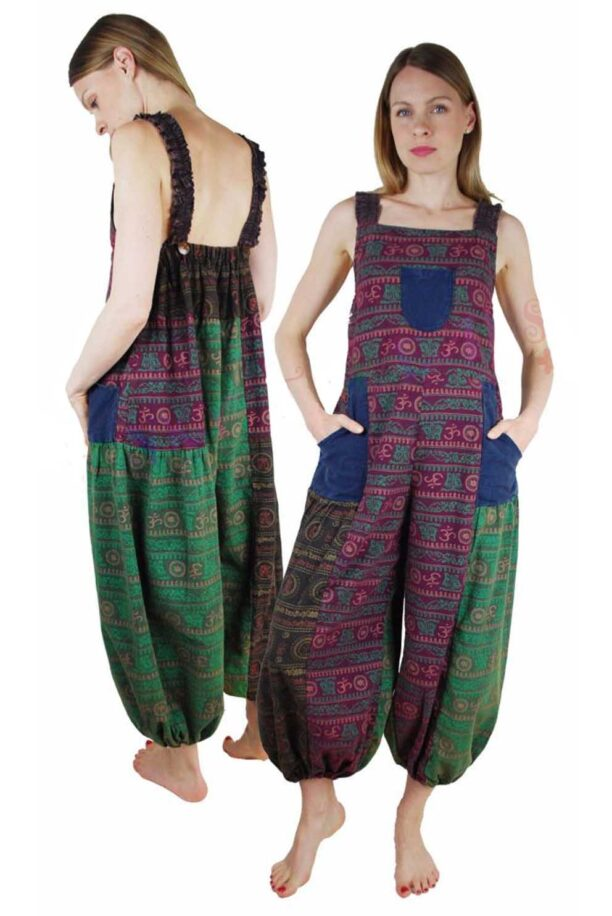 Dungarees with Om Print