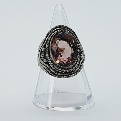 Faceted Purple Crystal Ring Main