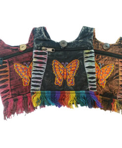 Festival Bag with Embroidered Butterfly