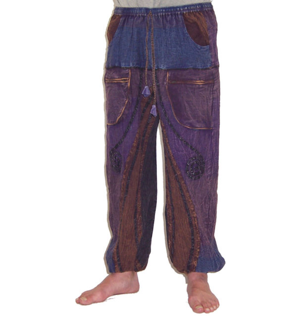 Funky Cotton Hippie Festival Trousers Purple