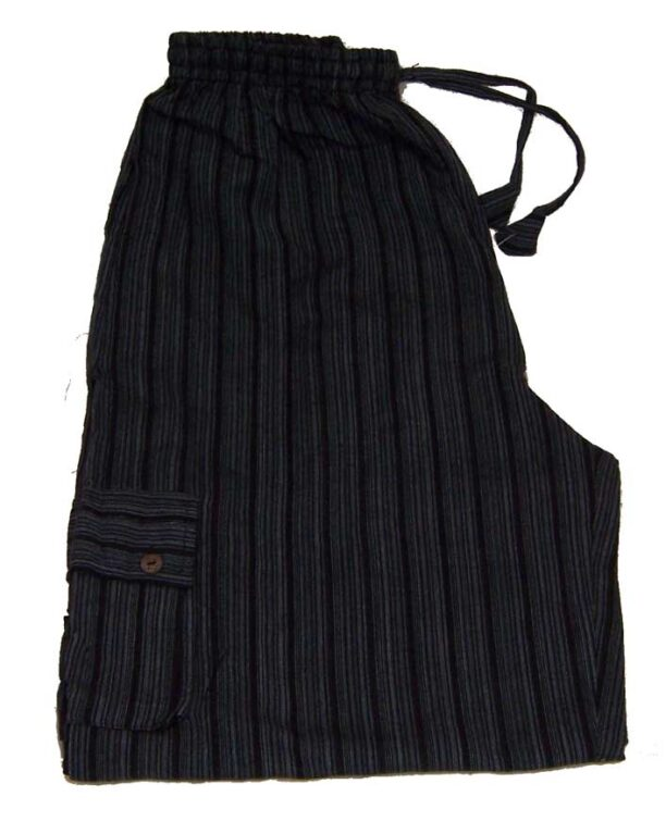 Hippy Trousers with Stripes Black
