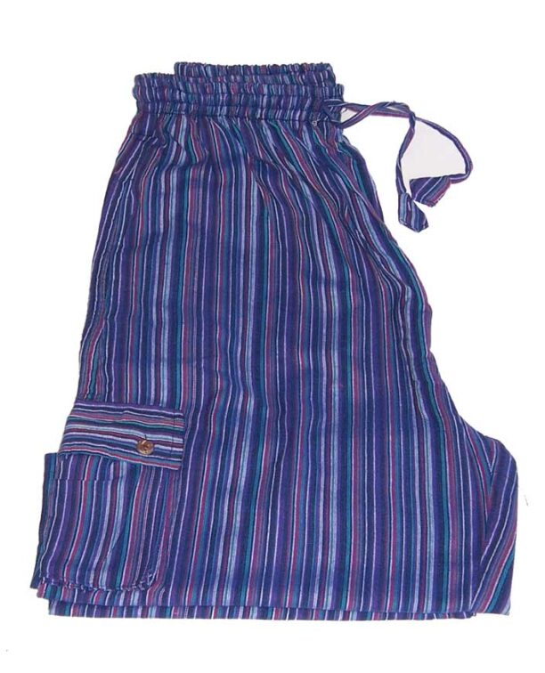 Hippy Trousers with Stripes Blue