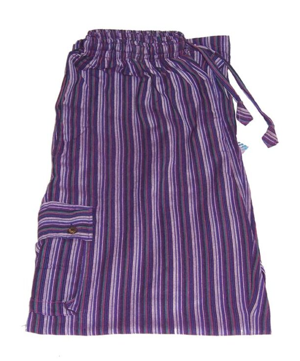 Hippy Trousers with Stripes Purple