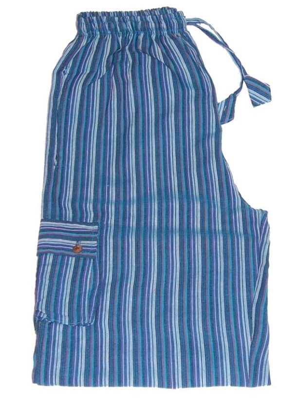 Hippy Trousers with Stripes Turquoise