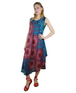 Hippy Clothing Umbrella Dress with Circle Sash