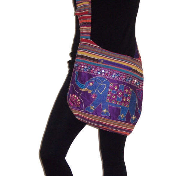 Indian Style Shoulder Bag with Elephants 2