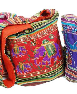 Indian Style Shoulder Bag with Elephants