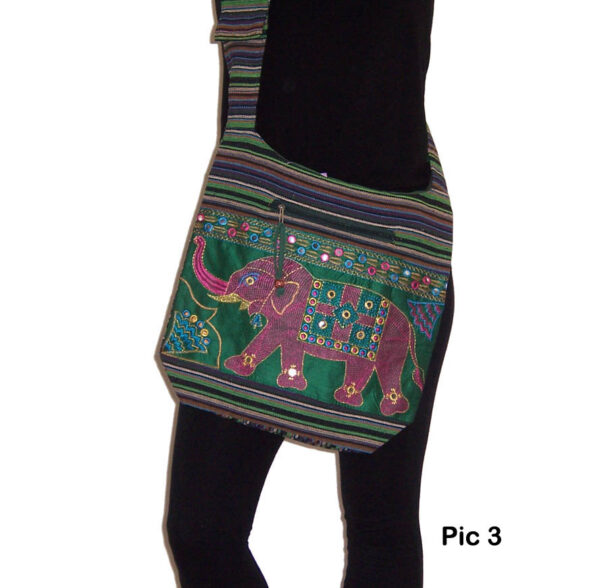Indian Style Shoulder Bag with Elephants 3