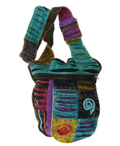 Small Shoulder Hippy Bag Ripped Style