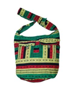 Over the Shoulder Hippy Bag Rasta Colours