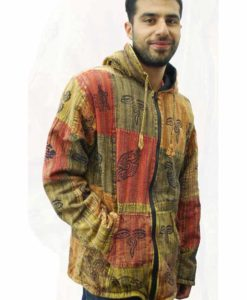 Patchwork Fleece Lined Jacket Zip