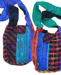 Recycled Hippy Bag made from Silk & Cotton