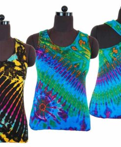 Tie Dye Roundneck Strappy Top