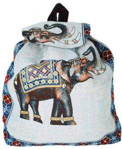 White Indian Style Elephant Backpack