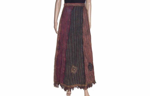 Wrap Around Long Panel Skirt 1