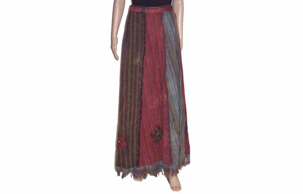 Wrap Around Long Panel Skirt 2