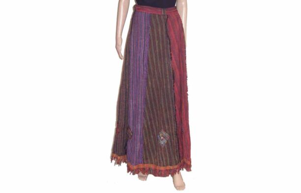 Wrap Around Long Panel Skirt 3